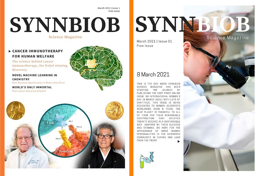 Synnbiob Science Magazine - Issue 1 - back and front cover.